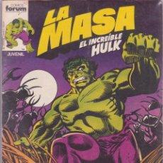 Cómics: LA MASA Nº 1 -- EL INCREIBLE HULK . Lote 57823537