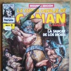 Cómics: LA ESPADA SALVAJE DE CONAN VOL. 1 SEGUNDA EDICION Nº 3 - FORUM - IMPECABLE. Lote 58196151
