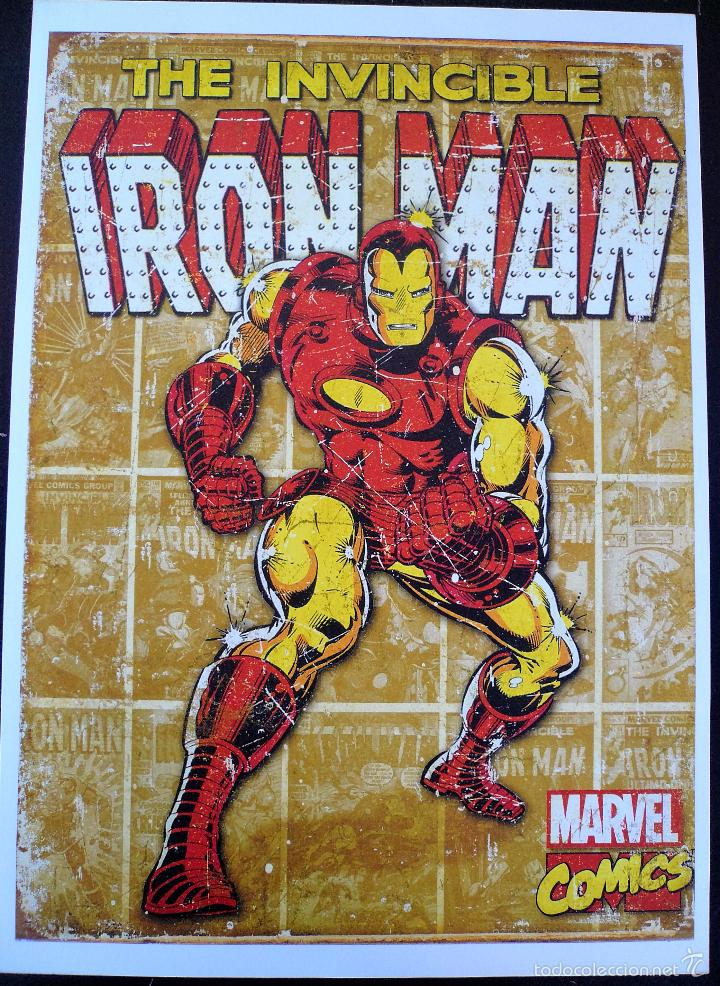 CARTEL IRON MAN MARVEL COMICS 45 X 32 CM (Tebeos y Comics - Forum - Iron Man)