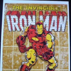 Cómics: CARTEL IRON MAN MARVEL COMICS 45 X 32 CM. Lote 58266187