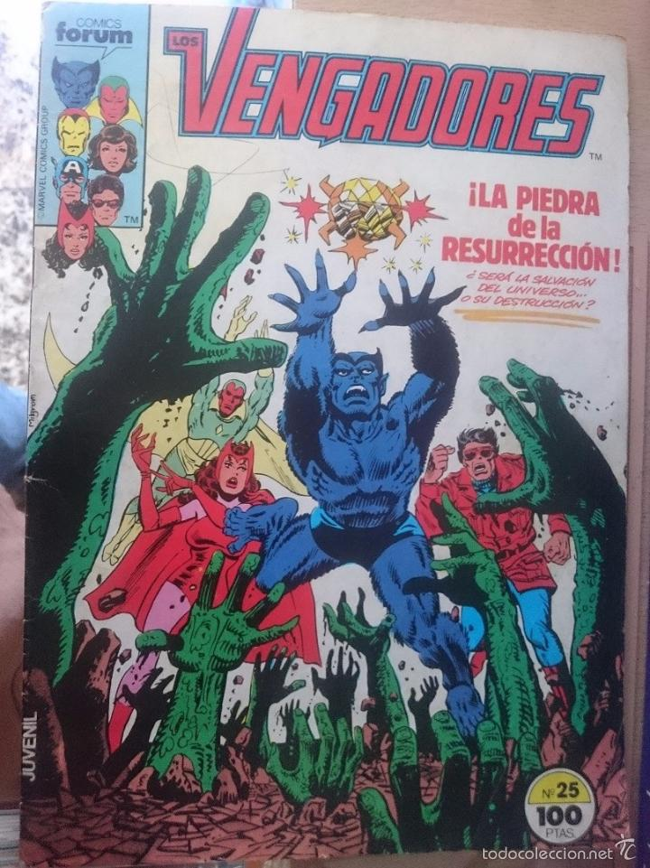 LOS VENGADORES N 25 - LA PIEDRA DE LA RESURRECCION -- ED. FORUM (Tebeos y Comics - Forum - Vengadores)