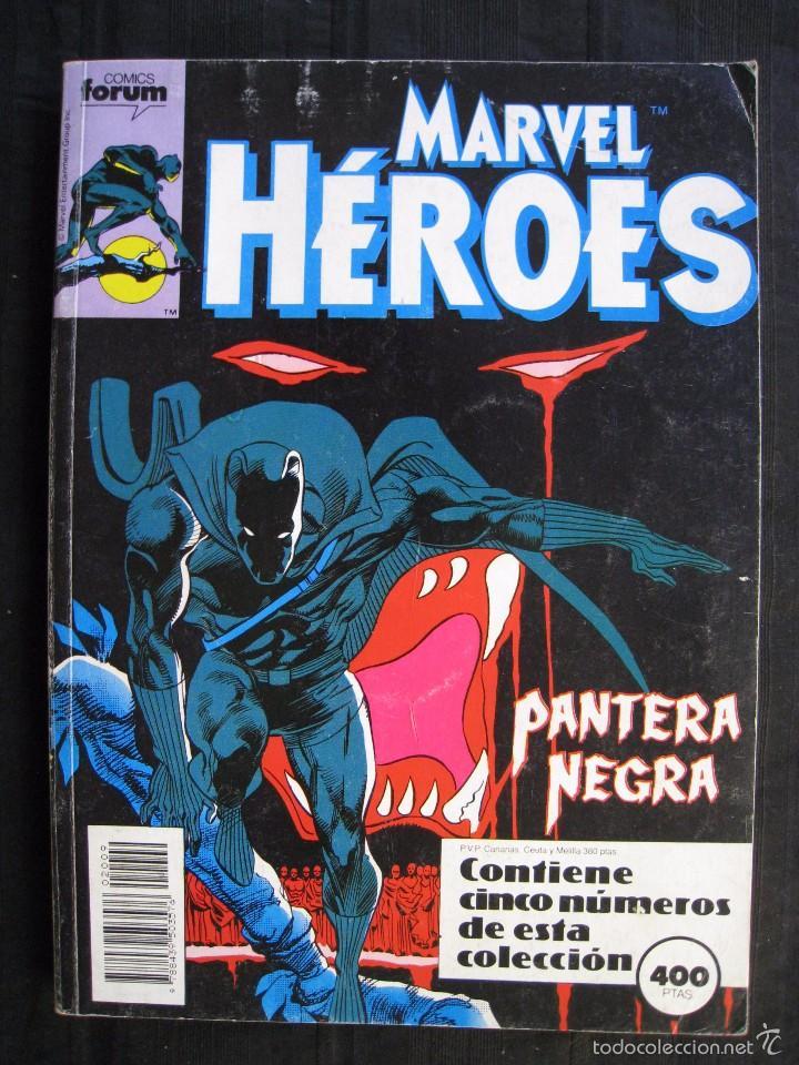 MARVEL HEROES - PANTERA NEGRA - RETAPADO - DEL Nº 45 AL Nº 49 - FORUM. (Tebeos y Comics - Forum - Retapados)