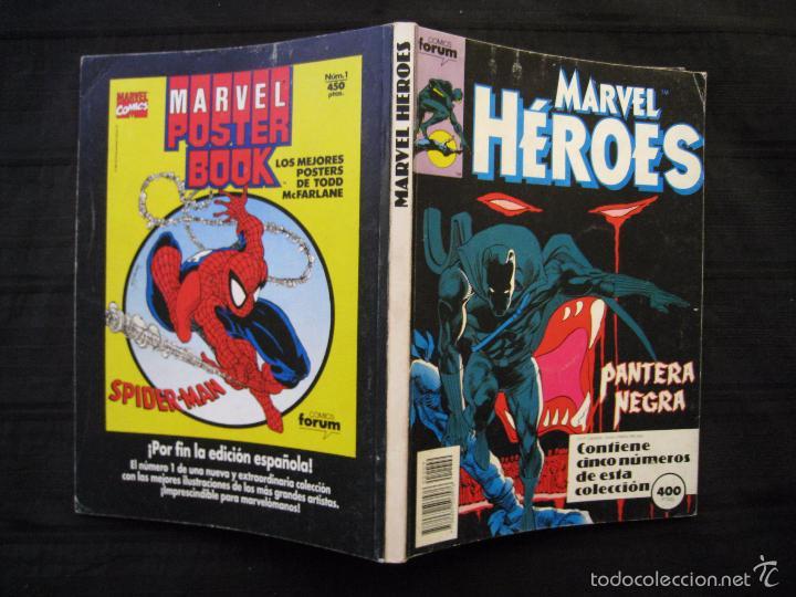 Cómics: MARVEL HEROES - PANTERA NEGRA - RETAPADO - DEL Nº 45 AL Nº 49 - FORUM. - Foto 3 - 58449086