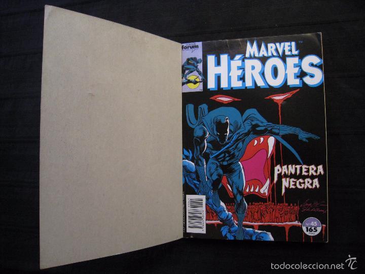 Cómics: MARVEL HEROES - PANTERA NEGRA - RETAPADO - DEL Nº 45 AL Nº 49 - FORUM. - Foto 4 - 58449086