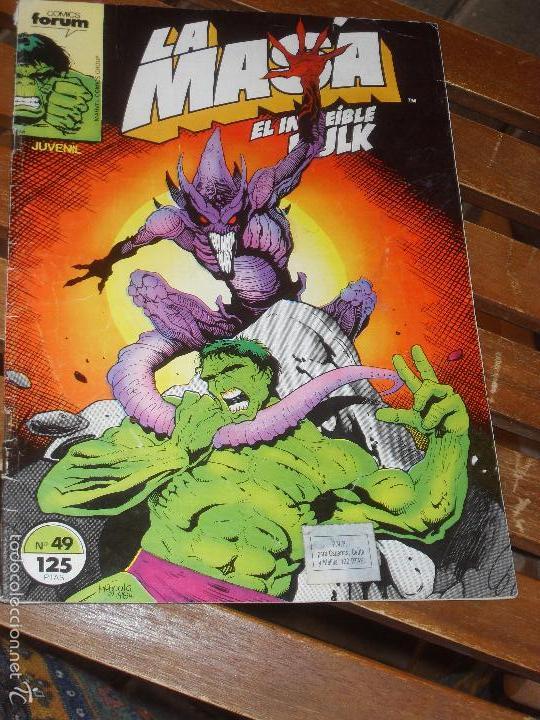 LA MASA Nº 49. VOL. 1. EL INCREIBLE HULK. COMICS FORUM. MARVEL (Tebeos y Comics - Forum - Hulk)