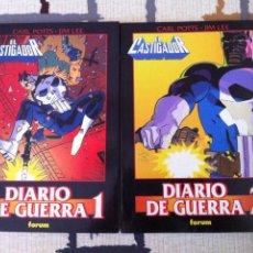 Cómics: EL CASTIGADOR:DIARIO DE GUERRA 1 Y 2. 2 TOMOS DE OBRAS MAESTRAS 1997. DIBUJADOS POR JIM LEE. PERFECT. Lote 27201643