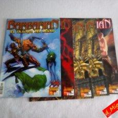 Cómics: BARBARIAN / EL TRIUNFO DEL ACERO / Nº 1,2,3,4 / ULTIMATE COMIC / FANTASÍA HEROICA. Lote 56488998