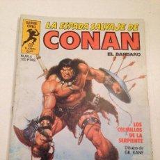 Cómics: LA ESPADA SALVAJE DE CONAN EL BARBARO Nº 4. ¡CON LA CARTA DE REGALO! 1ª EDICION. PLANETA 1982. Lote 60618523
