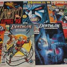 Cómics: GAMBITO Nº 1, MORBIUS Nº 1, DEATHLOK Nº 1. LOTE DE 7 COMICS MARVEL. FORUM. Lote 61208479