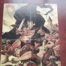 Cómics: PÓSTER 10 °ANIVERSARIO DE LA ESPADA SALVAJE DE CONAN.FORUM. AÑO 1992.. Lote 61614080