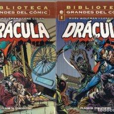 Cómics: DRACULA- BIBLIOTECA GRANDES DEL COMIC- VOLS. 1º AL 6º. Lote 61694044