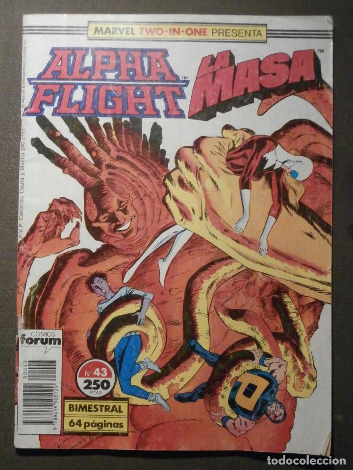 COMIC - MARVEL TWO - IN - ONE - ALPHA FLIGHT - LA MASA - HULK - Nº 43 - FORUM - (Tebeos y Comics - Forum - Hulk)