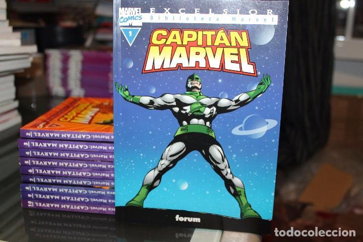 CAPITAN MARVEL BIBLIOTECA MARVEL EXCELSIOR COMPLETA DEL 1 AL 10 FORUM (Tebeos y Comics - Forum - Otros Forum)