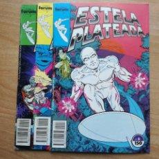 Cómics: LOTE ESTELA PLATEADA Nº 6 8 10 FORUM BUEN ESTADO SILVER SURFER. Lote 62163964