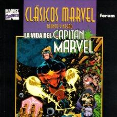 Cómics: CLASICOS MARVEL EN BLANCO Y NEGRO.03.CAPITAN MARVEL:LA VIDA DEL CAPITAN MARVEL.FORUM.. Lote 62218560