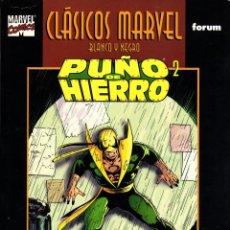 Cómics: CLASICOS MARVEL EN BLANCO Y NEGRO.06.PUÑO DE HIERRO 2.FORUM.. Lote 62222156
