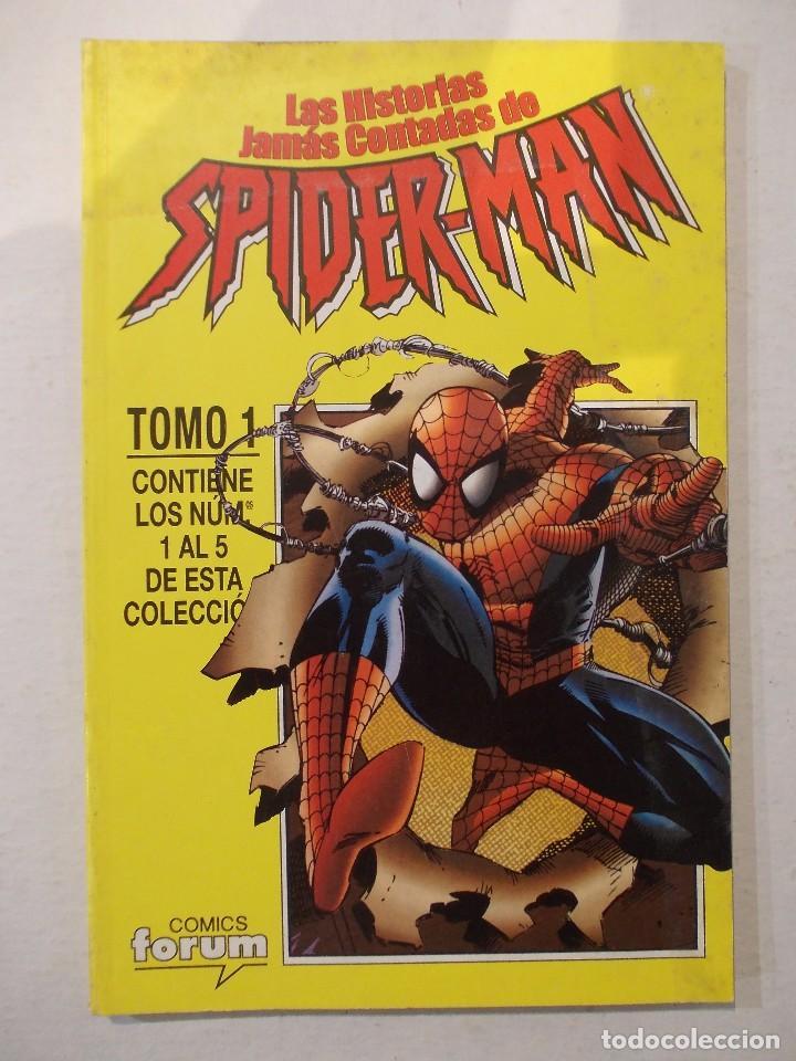 LAS HISTORIAS JAMAS CONTADAS DE SPIDERMAN-TOMO RECOPILATORIO- EJEMPLARES DEL 1 AL 5-FORUM (Tebeos y Comics - Forum - Retapados)