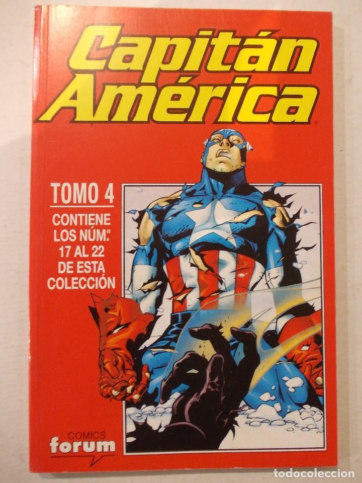 CAPITAN AMERICA TOMO 4-CONTIENE DEL 17 AL 22-ED.FORUM (Tebeos y Comics - Forum - Retapados)