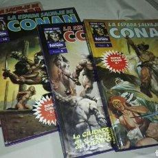 Cómics: LOTE SUPER CONAN , LA ESPADA SALVAJE DE CONAN , SERIE ORO , FORUM NUMEROS 5, 8 ,10 Y 11. TAPA DURA . Lote 62931276