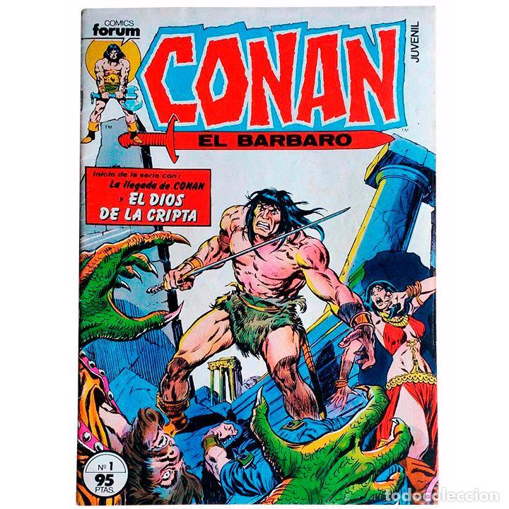CONAN EL BÁRBARO VOL 1 Nº 1 / FORUM 1983 ( ROY THOMAS / B.W.SMITH / JOHN BUSCEMA) (Tebeos y Comics - Forum - Conan)