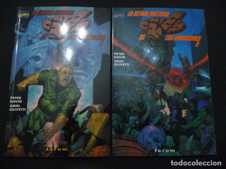 LA ÚLTIMA HISTORIA DE LOS VENGADORES. COMPLETA EN DOS TOMOS. FORUM (Tebeos y Comics - Forum - Prestiges y Tomos)