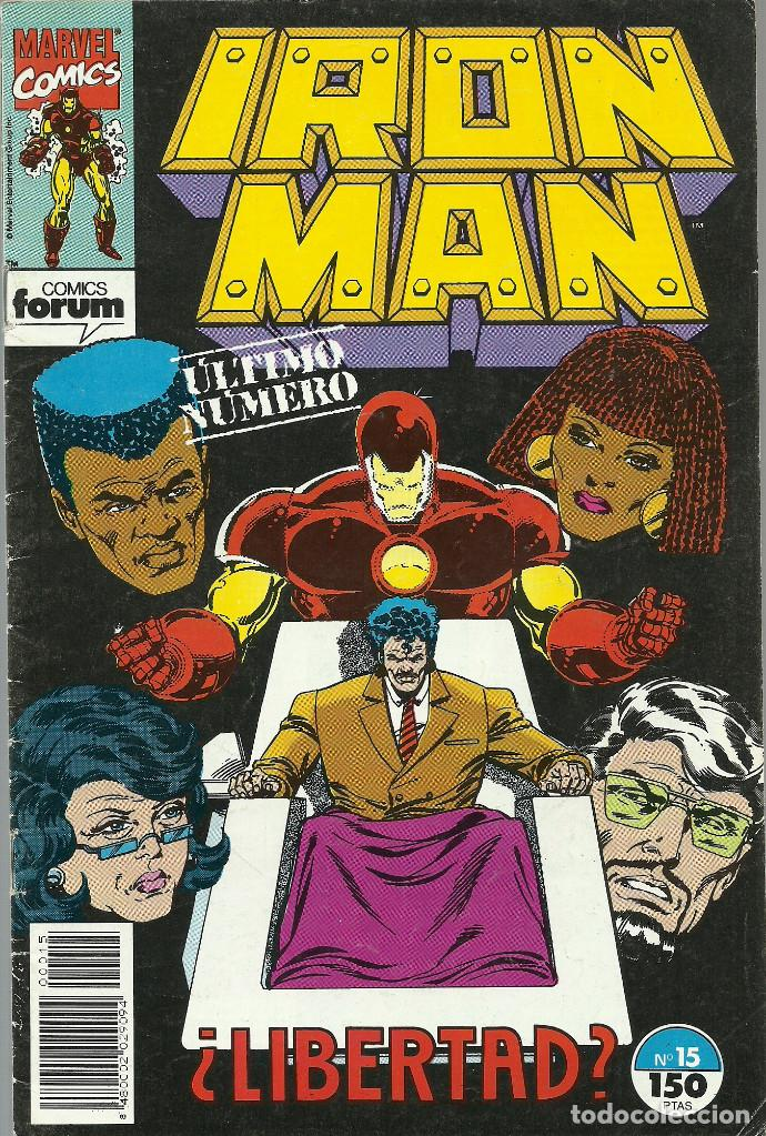 IRON MAN Nº 15 ULTIMO NUMERO MARVEL FORUM (Tebeos y Comics - Forum - Iron Man)