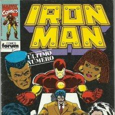 Cómics: IRON MAN Nº 15 ULTIMO NUMERO MARVEL FORUM. Lote 66073062