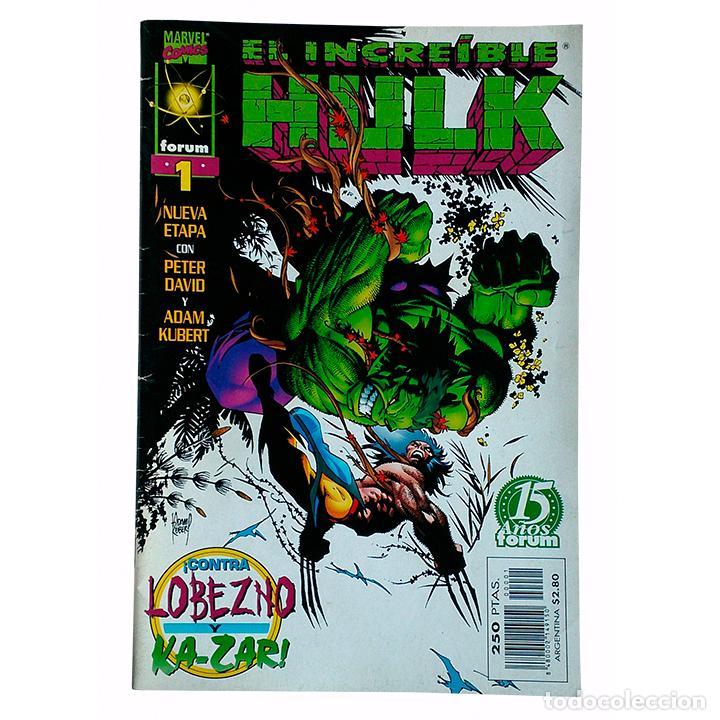 EL INCREIBLE HULK / LA MASA VOL 3 Nº 1 / MARVEL / FORUM 1998 (PETER DAVID & ADAM KUBERT) (Tebeos y Comics - Forum - Hulk)