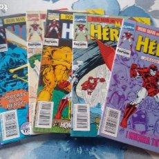 Cómics: IRON MAN HOMBRE DE HIERRO MARVEL HEROES 54 AL 59 GUERRA DE LAS ARMADURAS. Lote 67666693