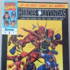 Cómics: HEROES Y LEYENDAS Nº 1 LOS PRIMEROS VENGADORES JUNTOS DE NUEVO EN UNA HISTORIA INEDITA. Lote 68548829