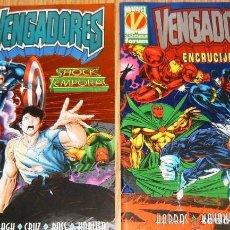 Cómics: DOS ESPECIALES DE LOS VENGADORES: ENCRUCIJADA + SHOCK TEMPORAL. Lote 68576517