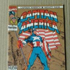 Cómics: CAPITÁN AMÉRICA Nº1 DE CÓMICS FORUM (1993). INCLUYE TAMBIÉN MIGHTY THOR (48 PÁGINAS).. Lote 70574637