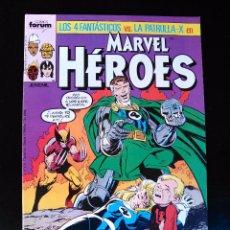 Fumetti: MARVEL HÉROES -LOS 4 FANTÁSTICOS VS. PATRULLA X- Nº 11 AL 14 - AVENTURA COMPLETA - VER FOTOS. Lote 71824259