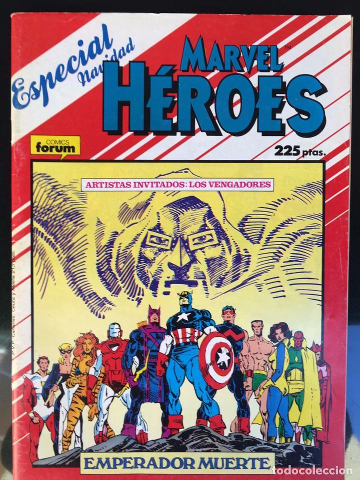 MARVEL HÉROES ESPECIAL NAVIDAD AÑO 1987 -LOS VENGADORES- EMPERADOR MUERTE (Tebeos y Comics - Forum - Vengadores)