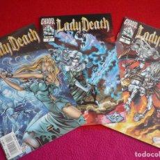 Cómics: LADY DEATH NºS 6, 7 Y 8 ( BRIAN PULIDO DAVID QUINN DEODATO JR) ¡COMO NUEVOS! FORUM CHAOS COMICS 2000. Lote 71974839