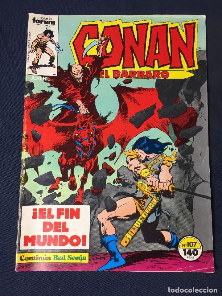CONAN EL BARBARO Nº 107. EL FIN DEL MUNDO. FORUM 1987. RED SONJA (Tebeos y Comics - Forum - Conan)