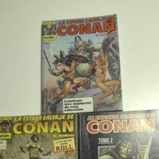 Cómics: LOTE 3 COMICS LA ESPADA SALVAJE DE CONAN SEGUN FOTOS. Lote 72422939