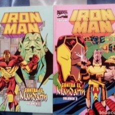 Cómics: IRON MAN CONTRA EL MANDARÍN. 2 TOMOS. Lote 73949094