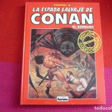 Cómics: LA ESPADA SALVAJE DE CONAN EDICION COLECCIONISTAS 3 ( FLEISHER ALCALA BARRY SMITH) ROJO MARVEL FORUM. Lote 75203355