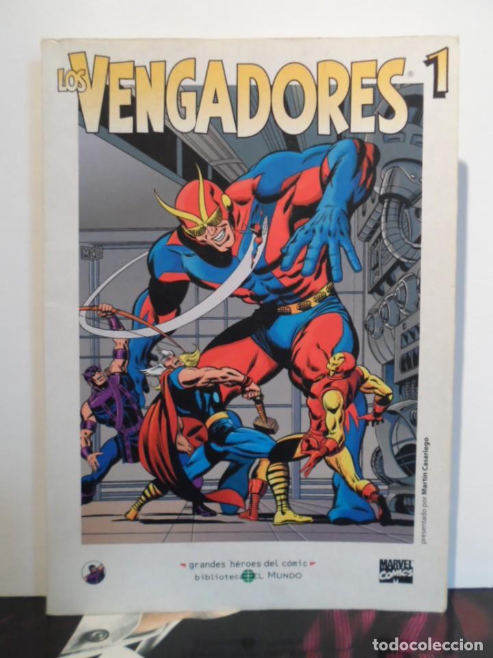 +++ LOS VENGADORES - GRANDES HÉROES DEL CÓMIC - TOMOS Nº 1, 2, 3 - EDIT. EL MUNDO - EDICIÓN AÑO 2003 (Tebeos y Comics - Forum - Vengadores)