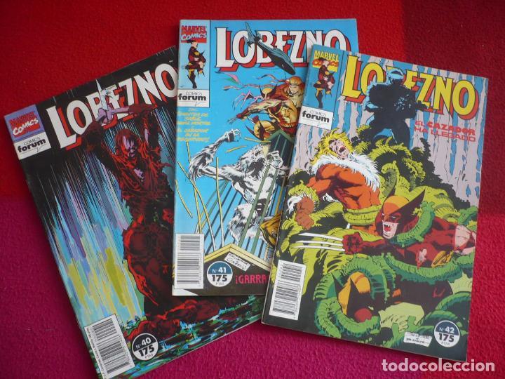 LOBEZNO VOL. 1 NºS 40, 41 Y 42 ( LARRY HAMA SILVESTRI ) ¡BUEN ESTADO! FORUM MARVEL 1992 (Tebeos y Comics - Otros Forum)