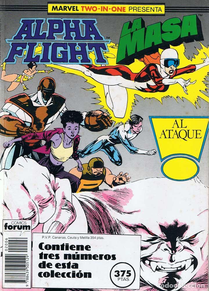 ALPHA FLIGHT LA MASA. MARVEL TWO-IN-ONE RETAPADO CON LOS Nº 42, 43 Y 44 (Tebeos y Comics - Forum - Alpha Flight)