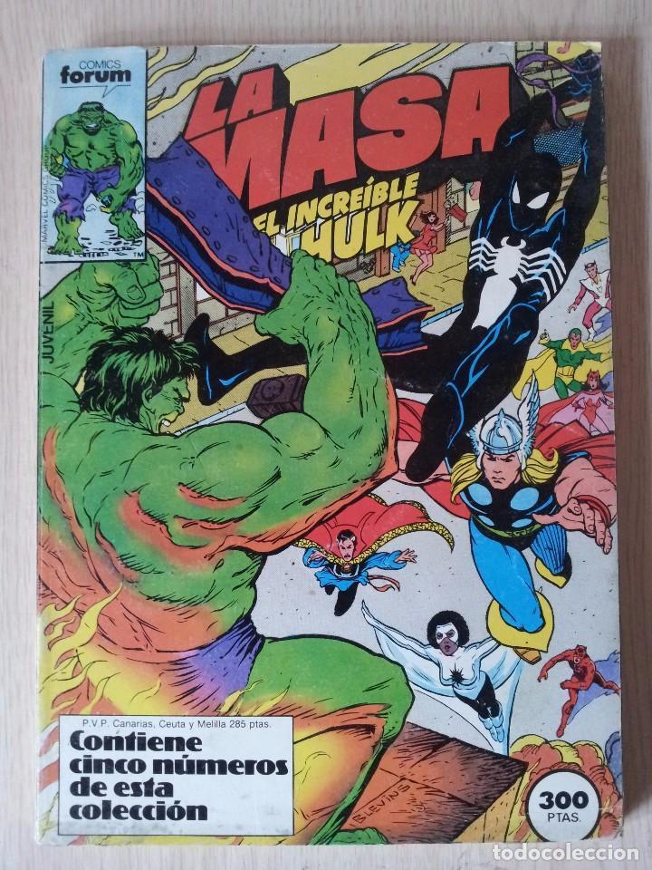 LA MASA, EL INCREIBLE HULK - RETAPADO - 5 NUMEROS - 36,37,38,39 Y 40 - MARVEL COMICS FORUM 1985 (Tebeos y Comics - Forum - Retapados)