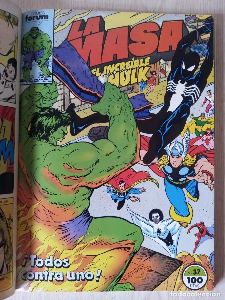 Cómics: LA MASA, EL INCREIBLE HULK - RETAPADO - 5 NUMEROS - 36,37,38,39 Y 40 - MARVEL COMICS FORUM 1985 - Foto 4 - 77409757