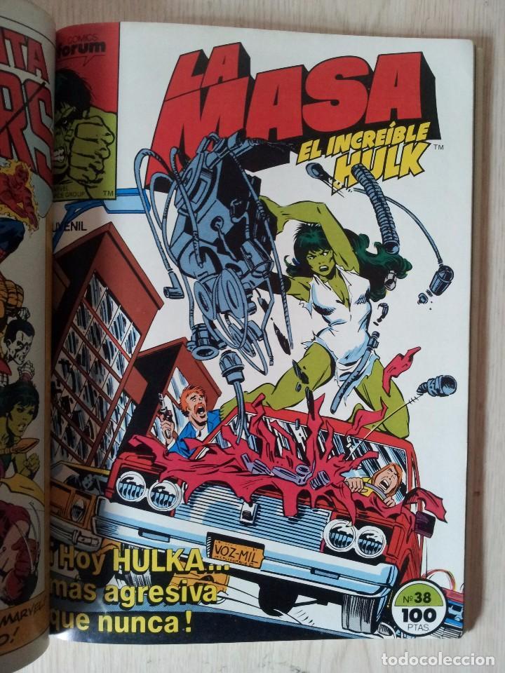 Cómics: LA MASA, EL INCREIBLE HULK - RETAPADO - 5 NUMEROS - 36,37,38,39 Y 40 - MARVEL COMICS FORUM 1985 - Foto 6 - 77409757