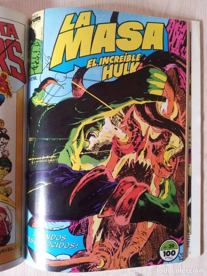 Cómics: LA MASA, EL INCREIBLE HULK - RETAPADO - 5 NUMEROS - 36,37,38,39 Y 40 - MARVEL COMICS FORUM 1985 - Foto 8 - 77409757
