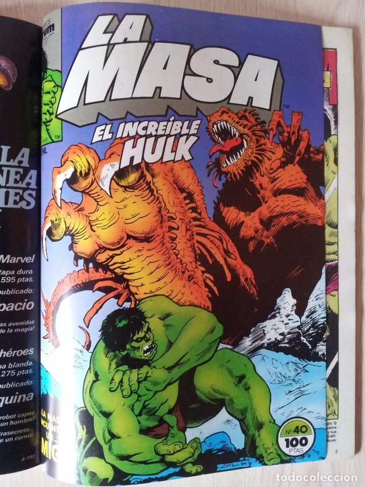 Cómics: LA MASA, EL INCREIBLE HULK - RETAPADO - 5 NUMEROS - 36,37,38,39 Y 40 - MARVEL COMICS FORUM 1985 - Foto 10 - 77409757