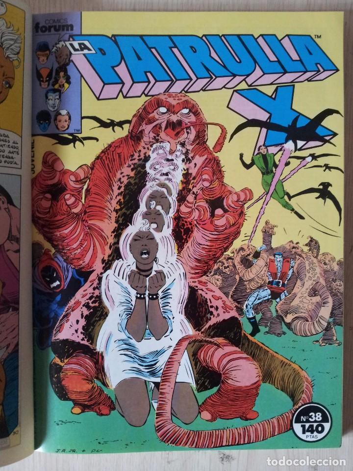 Cómics: PATRULLA X - RETAPADO - 5 NUMEROS - 37,38,39,40 Y 41 - MARVEL COMICS FORUM 1985 - Foto 4 - 77410225