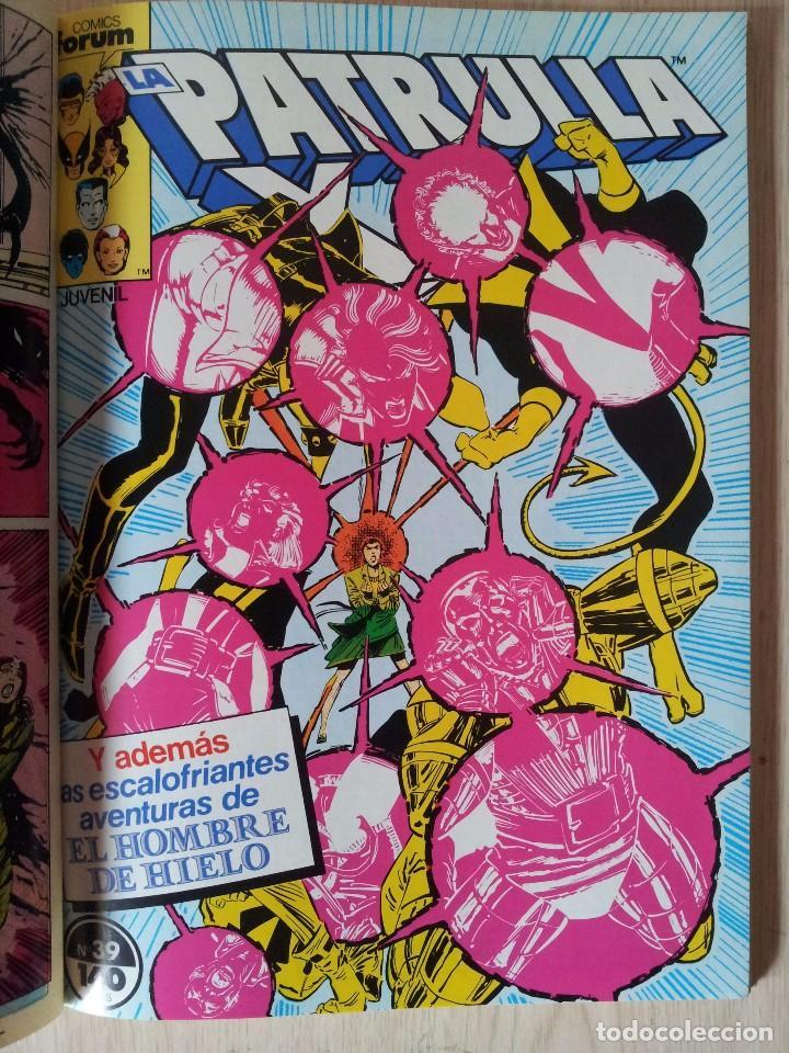 Cómics: PATRULLA X - RETAPADO - 5 NUMEROS - 37,38,39,40 Y 41 - MARVEL COMICS FORUM 1985 - Foto 6 - 77410225