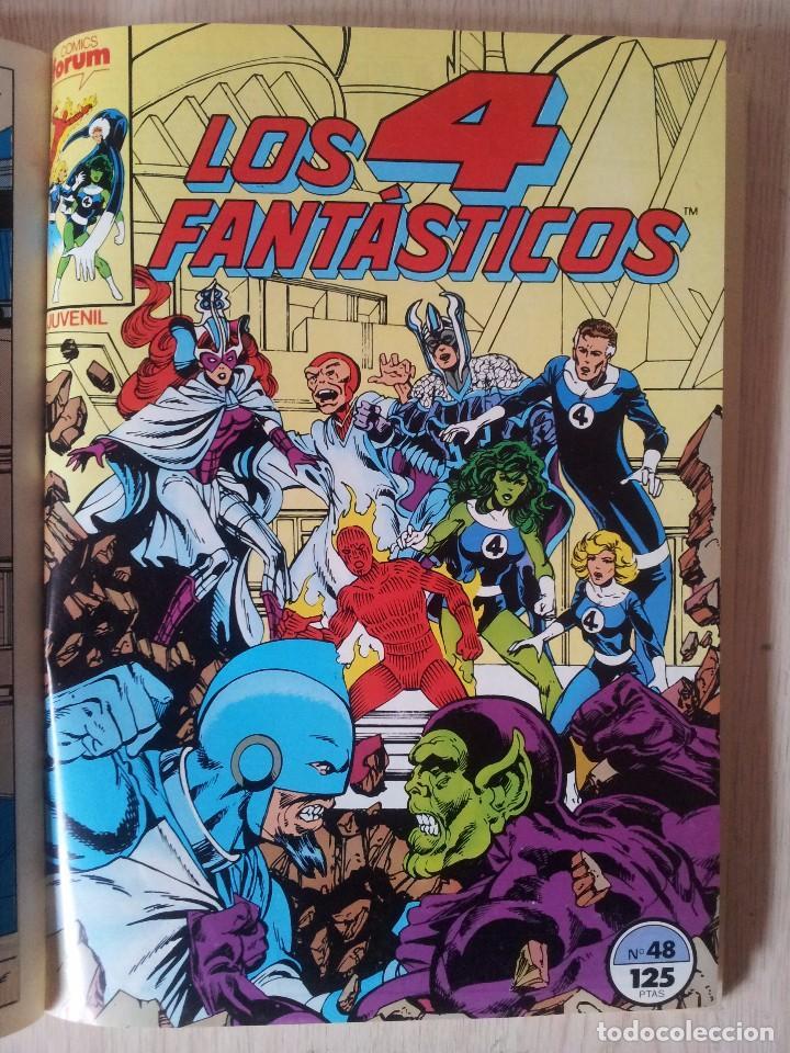 Cómics: LOS 4 FANTASTICOS - RETAPADO - 5 NUMEROS - 46,47,48,49 Y 50 - MARVEL COMICS FORUM 1983 - Foto 6 - 77411773